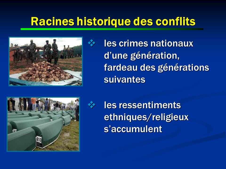 Racines historique des conflits les crimes nationaux dune génération, fardeau des générations suivantes les crimes nationaux dune génération, fardeau