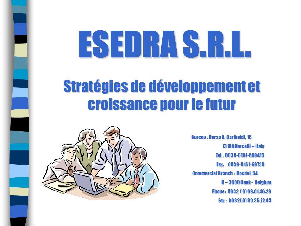 Stratégies de développement et croissance pour le futur Bureau : Corso G. Garibaldi, 15 13100 Vercelli – Italy 13100 Vercelli – Italy Tel. 0039-0161-6