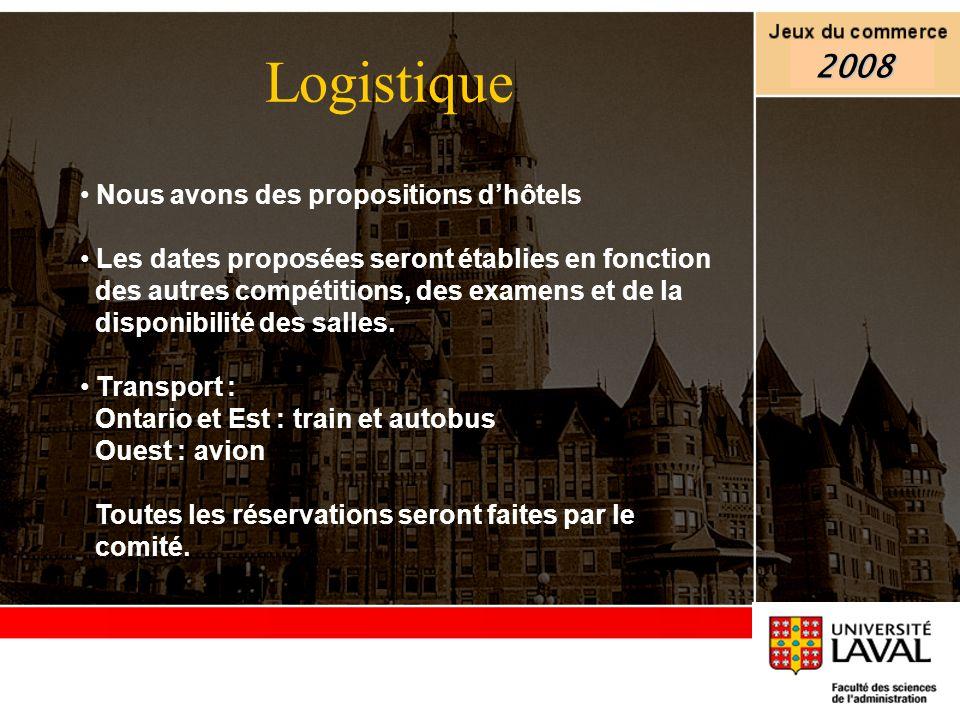 Nous avons des propositions dhôtels Les dates proposées seront établies en fonction des autres compétitions, des examens et de la disponibilité des sa