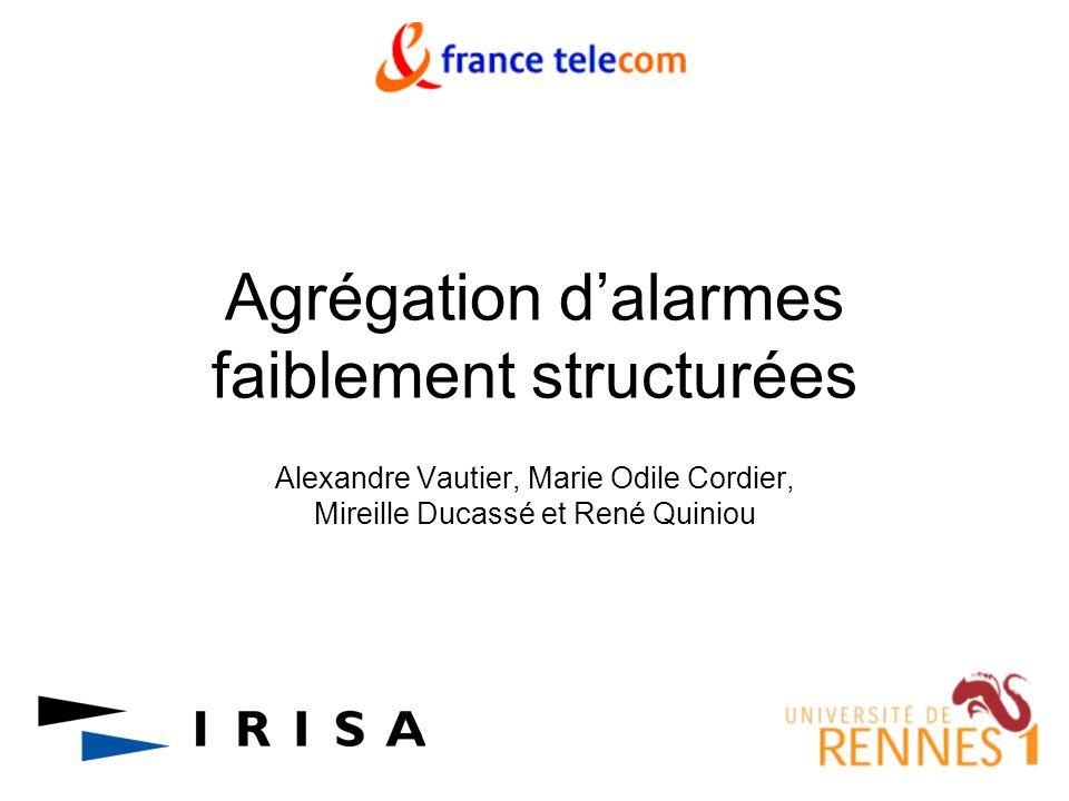 Agrégation dalarmes faiblement structurées Alexandre Vautier, Marie Odile Cordier, Mireille Ducassé et René Quiniou