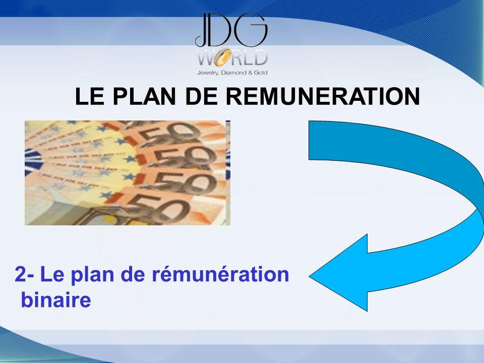 LE PLAN DE REMUNERATION 2- Le plan de rémunération binaire