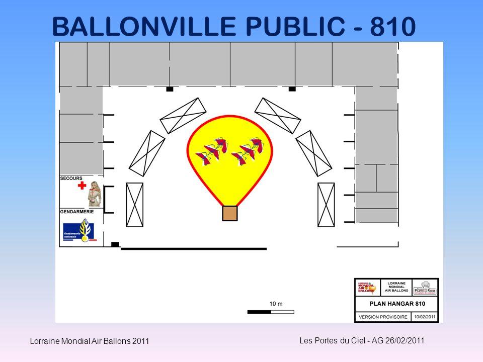 BALLONVILLE PUBLIC - 810 Les Portes du Ciel - AG 26/02/2011 Lorraine Mondial Air Ballons 2011