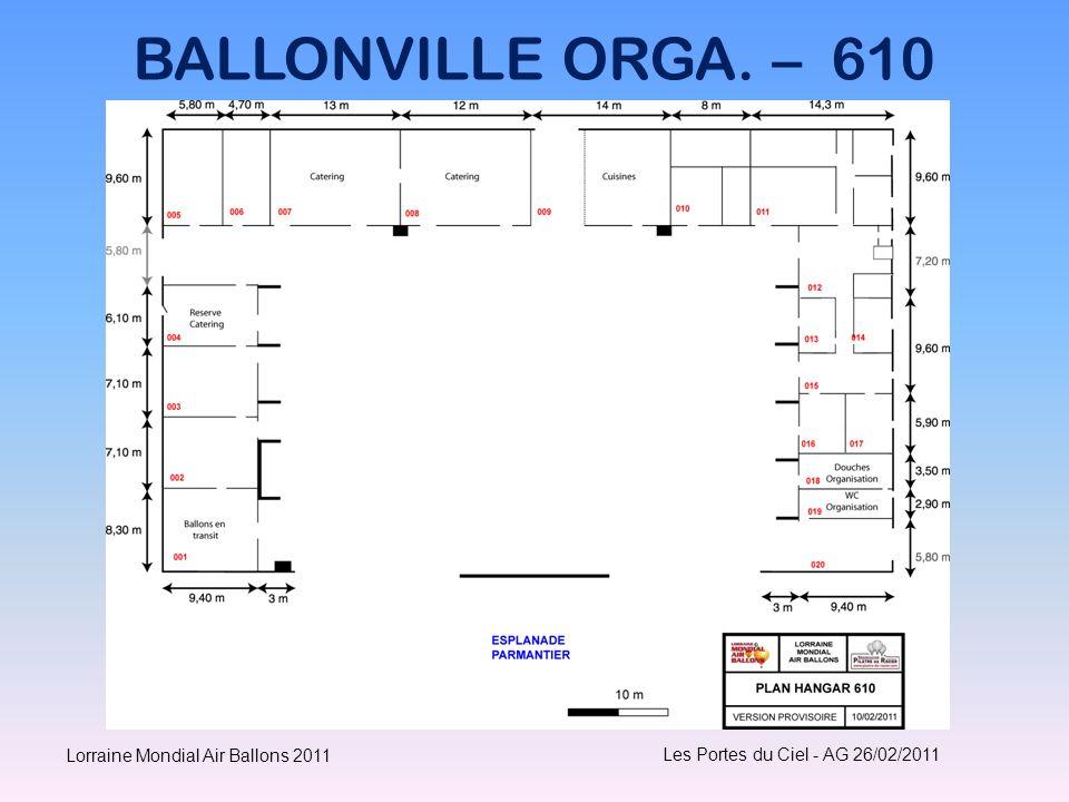 BALLONVILLE ORGA. – 610 Les Portes du Ciel - AG 26/02/2011 Lorraine Mondial Air Ballons 2011