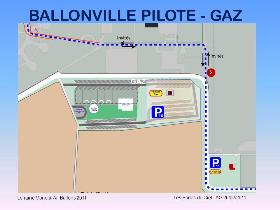 BALLONVILLE PILOTE - GAZ Les Portes du Ciel - AG 26/02/2011 Lorraine Mondial Air Ballons 2011