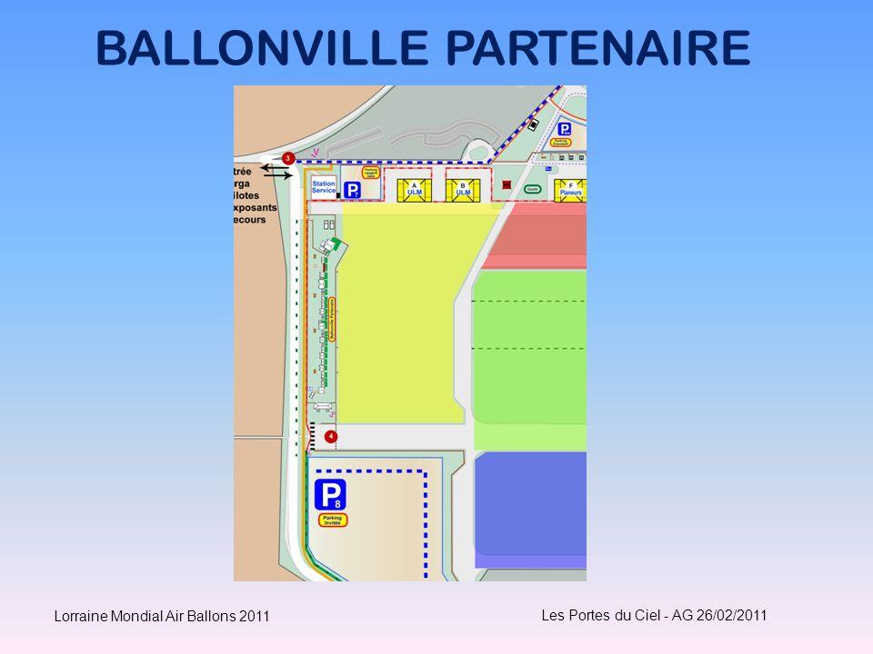 BALLONVILLE PARTENAIRE Les Portes du Ciel - AG 26/02/2011 Lorraine Mondial Air Ballons 2011