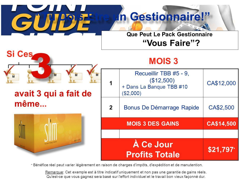 FICHE PROFIT Tu Dois Etre un Gestionnaire.www.PGDNews.com | www.PGDNews.biz MIEUX: Jr.