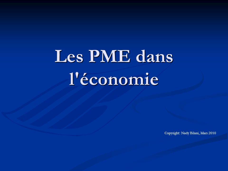 Les PME dans l économie Qu est-ce qu une PME.Qu est-ce qu une PME.