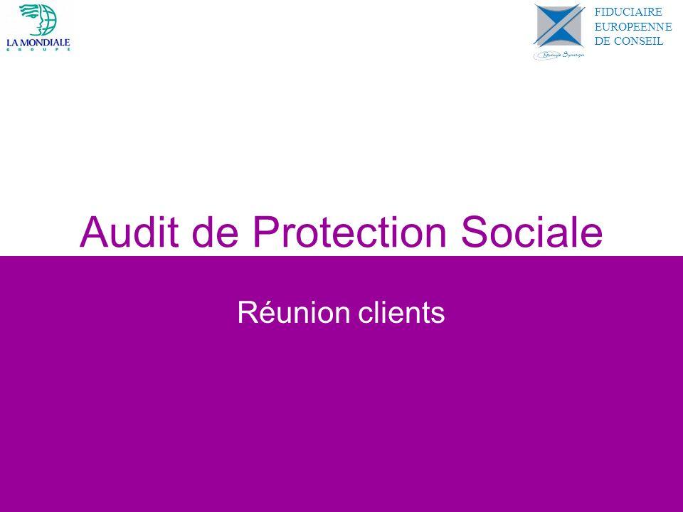 Audit de Protection Sociale Réunion clients FIDUCIAIRE EUROPEENNE DE CONSEIL