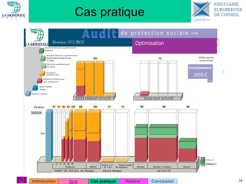 34 Cas pratique AteliersConclusionIntroductionQuizCas pratique FIDUCIAIRE EUROPEENNE DE CONSEIL