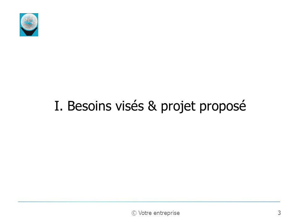 4 A quels besoins répond votre projet ? Besoins & opportunités © Votre entreprise
