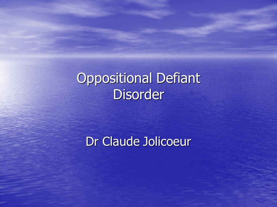 Familial Pattern Oppositional Defiant Disorder appears to be more common in families in which at least one parent has a history of a Mood Disorder, Oppositional Defiant Disorder, Conduct Disorder, Attention- Deficit/Hyperactivity Disorder, Antisocial Personality Disorder, or a Substance- Related Disorder.