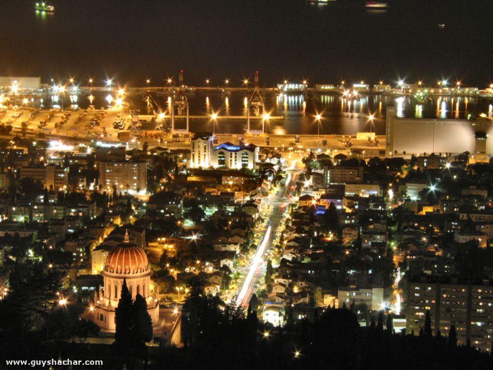 Bat Galim est à notre gauche, au dessus de nous, les jardins Bahai et juste après Hadar Hacarmel N