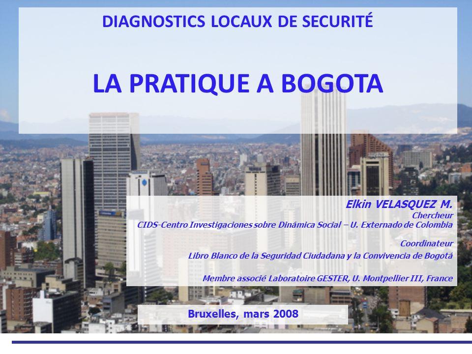 Le Livre Blanc de la sécurité Source: Libro Blanco de la Seguridad Ciudadana y la Convivencia de Bogotá, 2008.