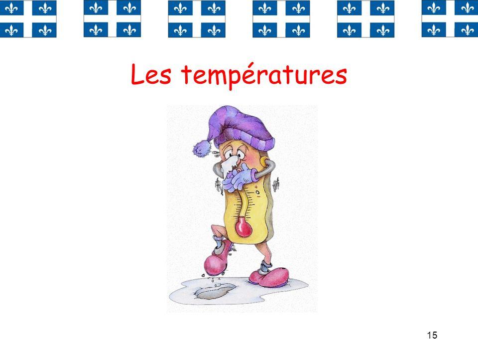 15 Les températures