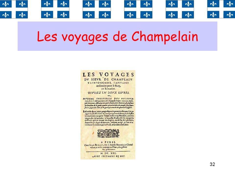 32 Les voyages de Champelain