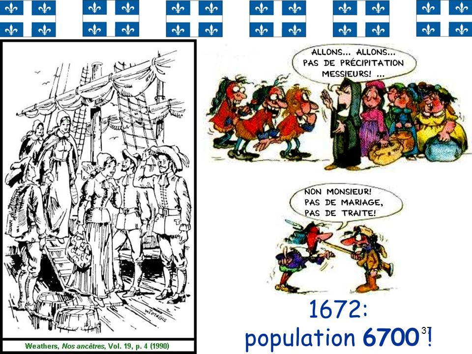 37 1672: population 6700 !