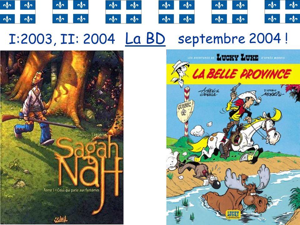 54 La BD septembre 2004 ! I:2003, II: 2004
