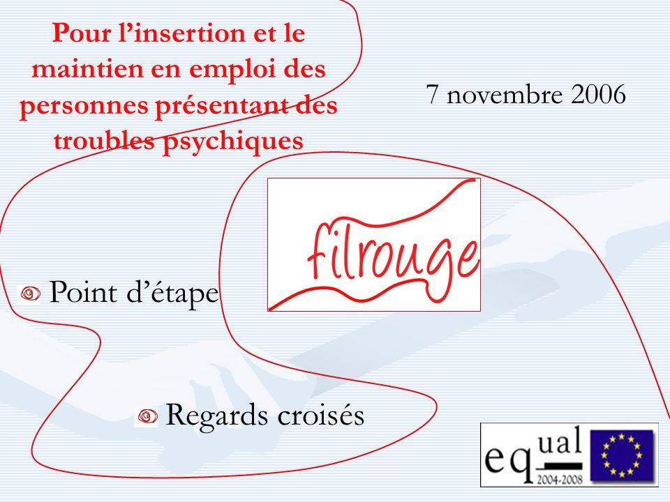 7 novembre 2006 Pour linsertion et le maintien en emploi des personnes présentant des troubles psychiques Point détape Regards croisés
