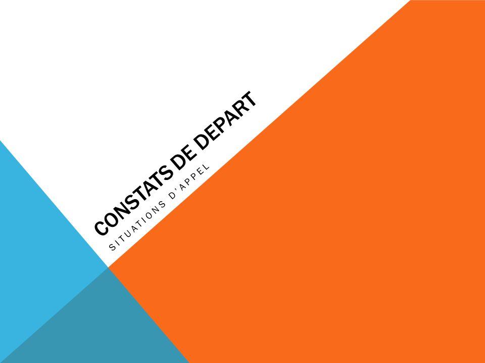 CONSTATS DE DEPART SITUATIONS DAPPEL