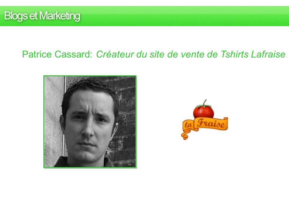 Patrice Cassard: Créateur du site de vente de Tshirts Lafraise