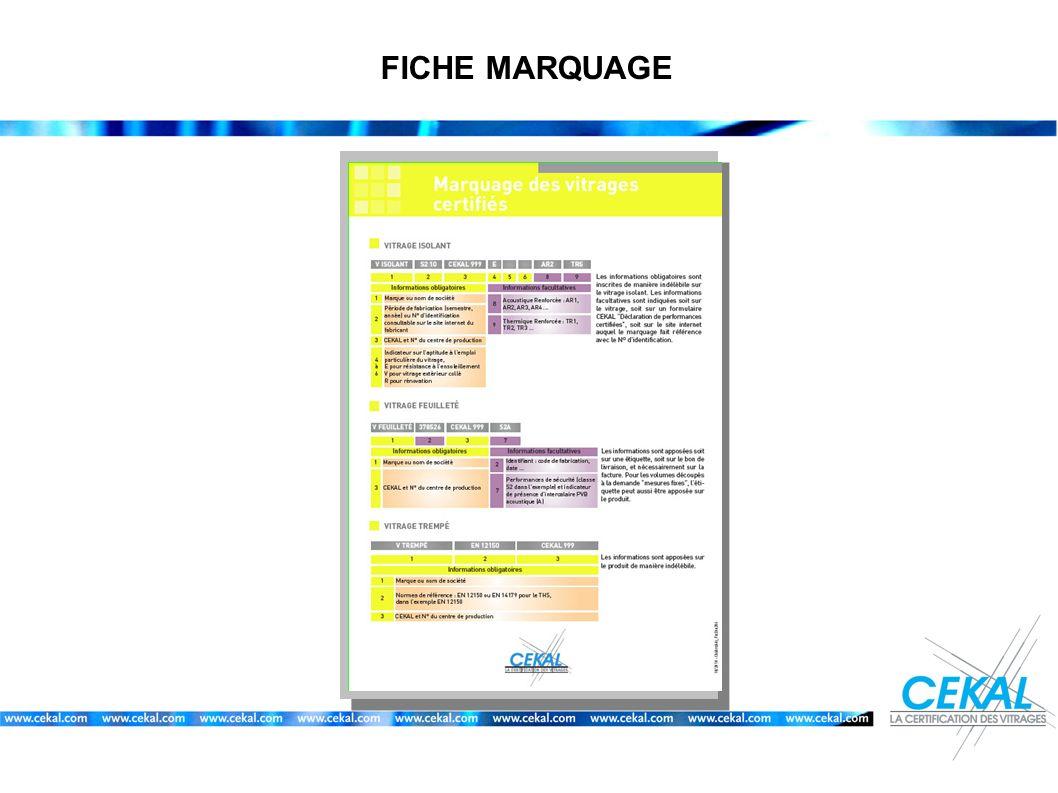 FICHE MARQUAGE