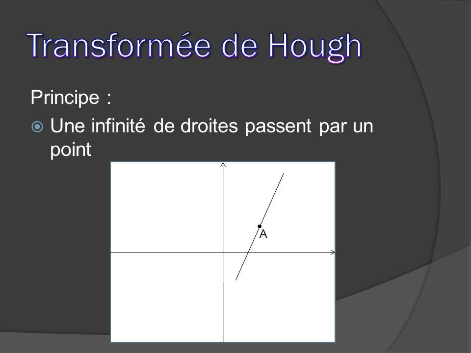 Principe : Une infinité de droites passent par un point A