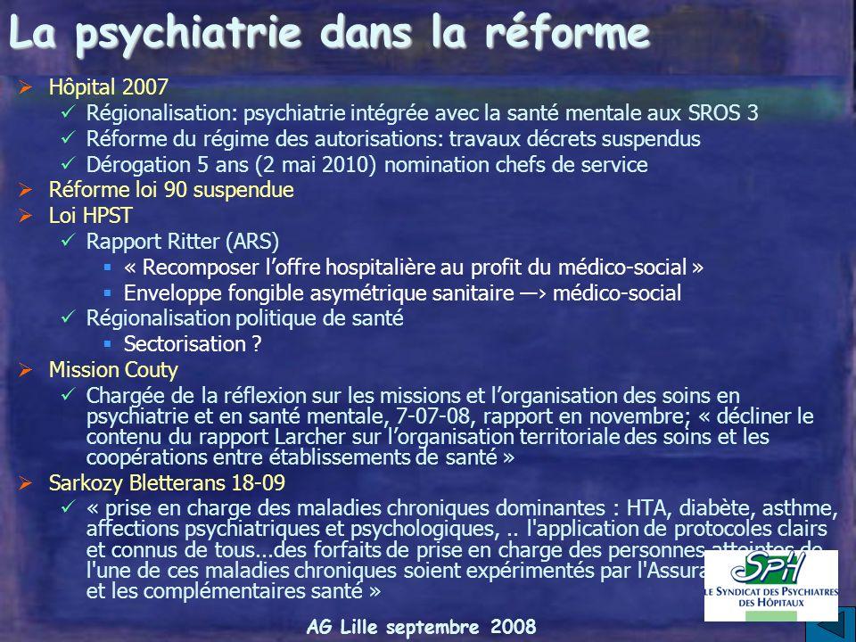AG Lille septembre 2008 Avant-projet de loi Titre II: Accès de tous à des soins de qualité Démographie médicale Détermination numerus clausus niveau n