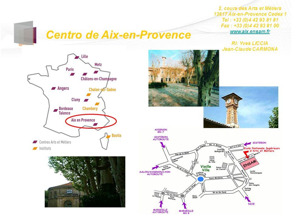 Centro de Aix-en-Provence 2, cours des Arts et Métiers 13617 Aix-en-Provence Cedex 1 Tel : +33 (0)4 42 93 81 81 Fax : +33 (0)4 42 93 81 00 www.aix.ens