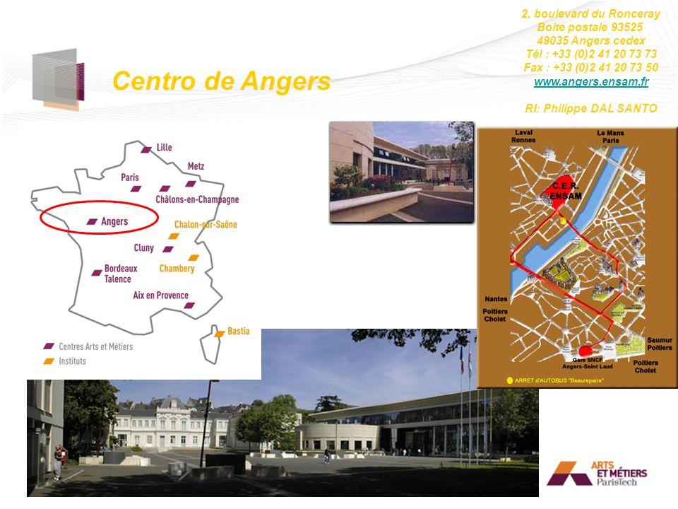 Centro de Angers 2, boulevard du Ronceray Boite postale 93525 49035 Angers cedex Tél : +33 (0)2 41 20 73 73 Fax : +33 (0)2 41 20 73 50 www.angers.ensa
