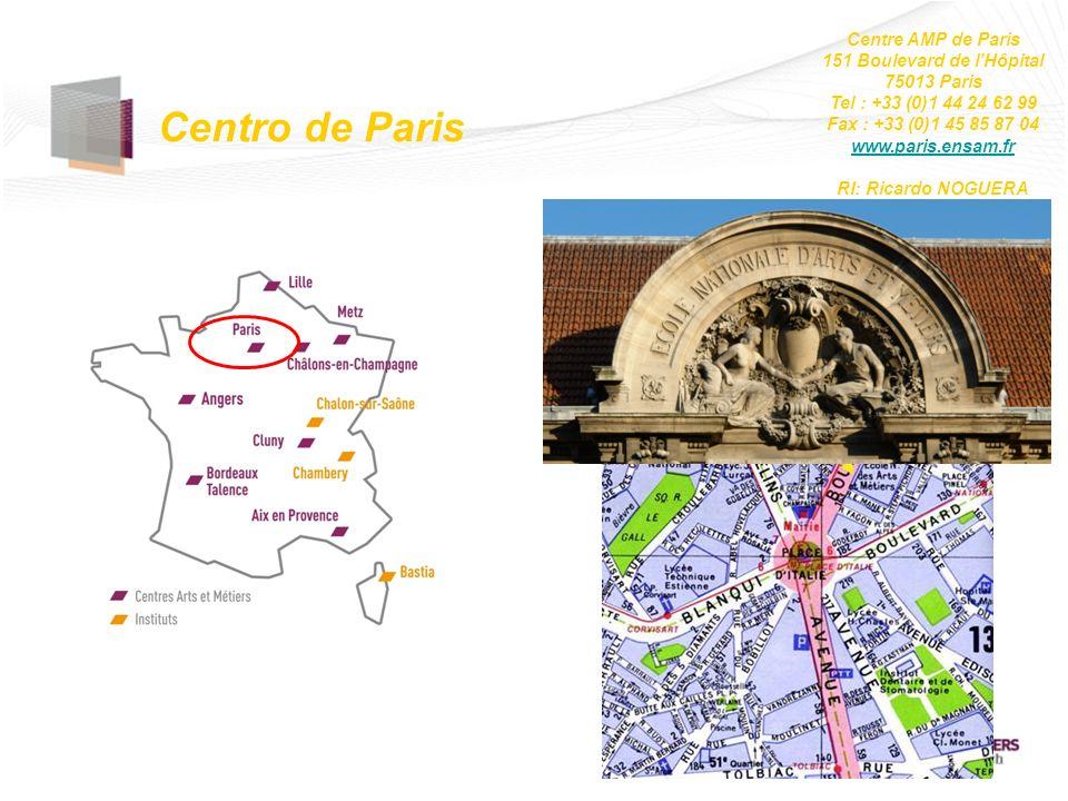 Centro de Paris Centre AMP de Paris 151 Boulevard de lHôpital 75013 Paris Tel : +33 (0)1 44 24 62 99 Fax : +33 (0)1 45 85 87 04 www.paris.ensam.fr RI: