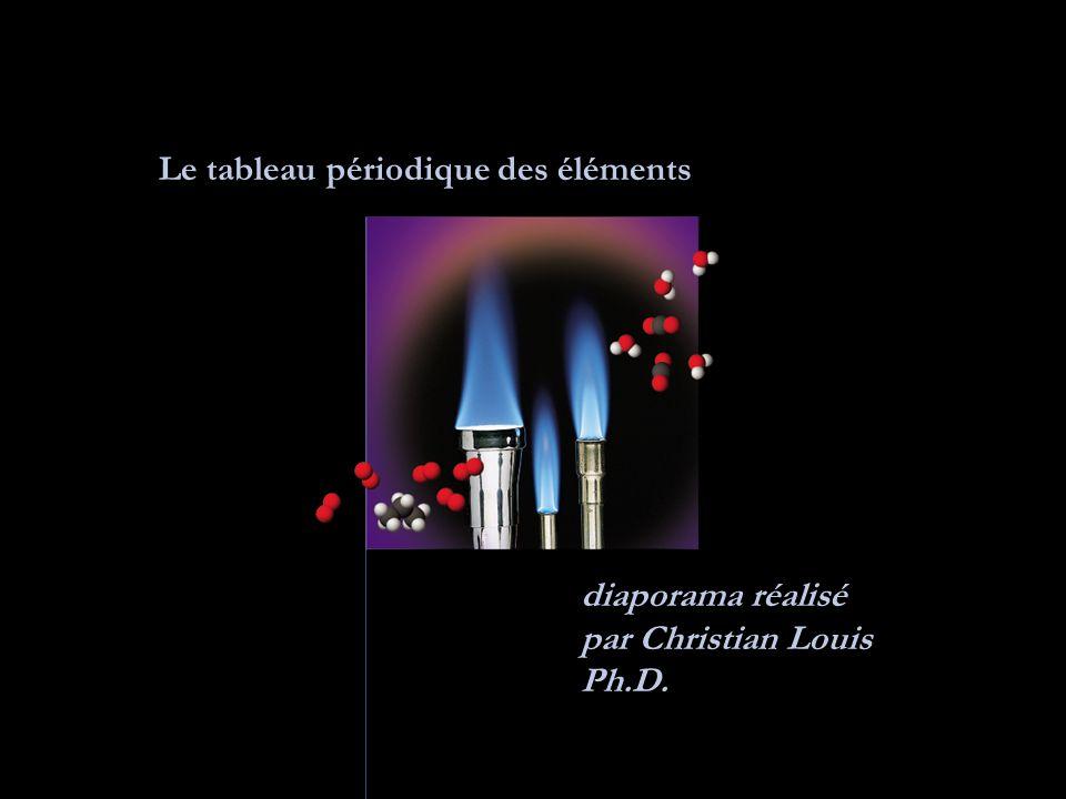 Le tableau périodique des éléments diaporama réalisé par Christian Louis Ph.D.