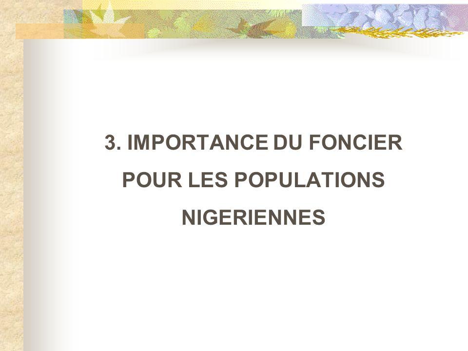 3. IMPORTANCE DU FONCIER POUR LES POPULATIONS NIGERIENNES