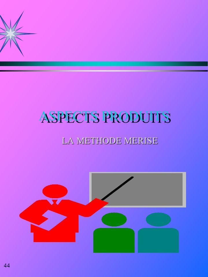 44 ASPECTS PRODUITS LA METHODE MERISE