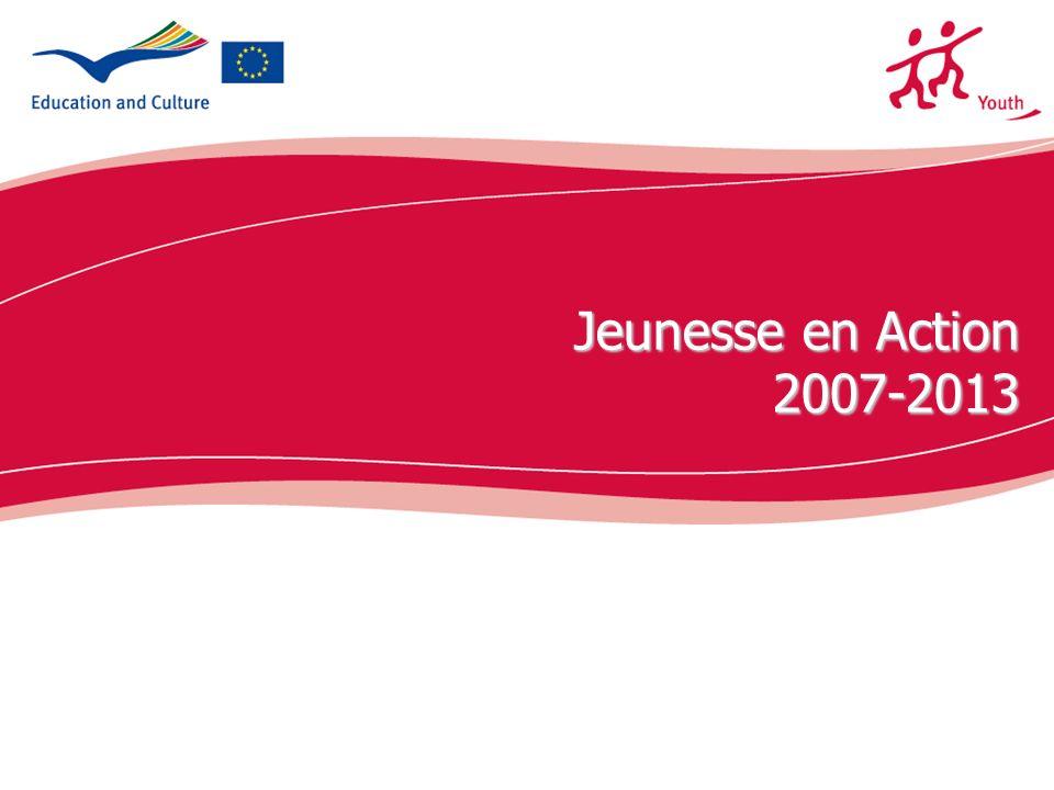 2 Programme JEUNESSE (2000-2006) 380.000 participants/es aux échanges de jeunes 20.000 volontaires SVE 8.000 Initiatives de jeunes ont été mises en oeuvre Au total: environ 700.000 participants/es à 70.000 projets.