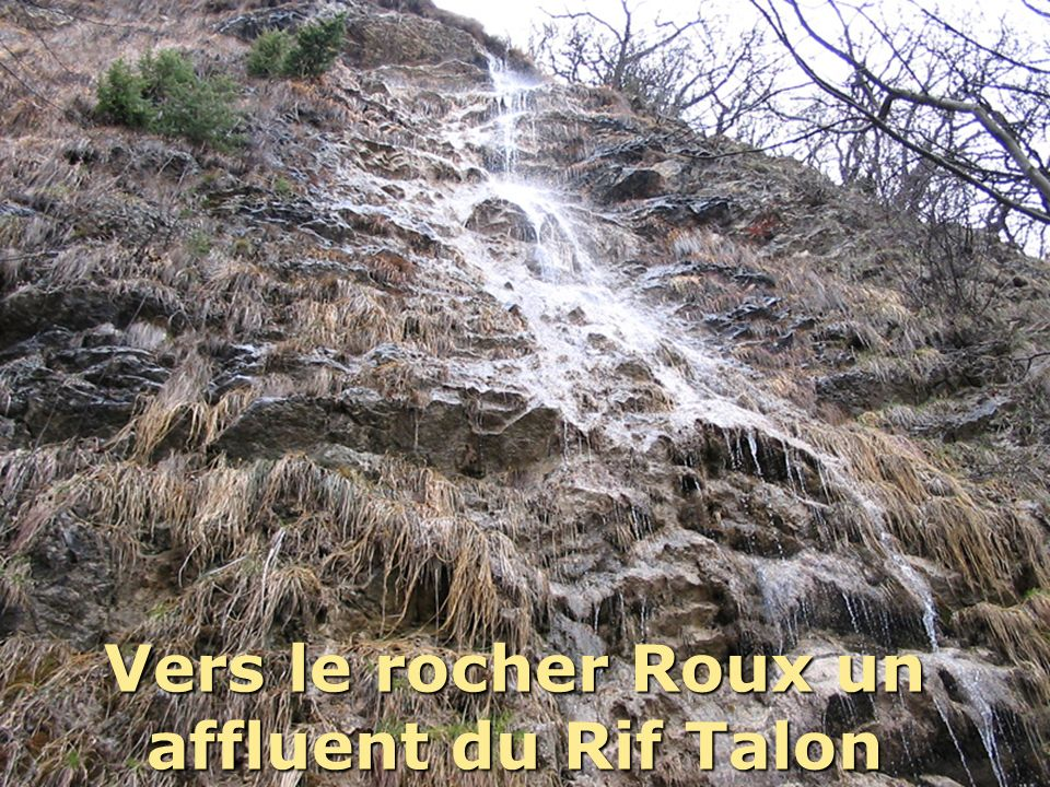 Vers le rocher Roux un affluent du Rif Talon