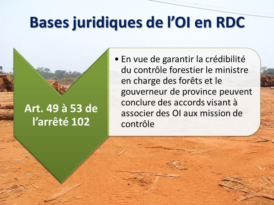 Bases juridiques de lOI en RDC Art.