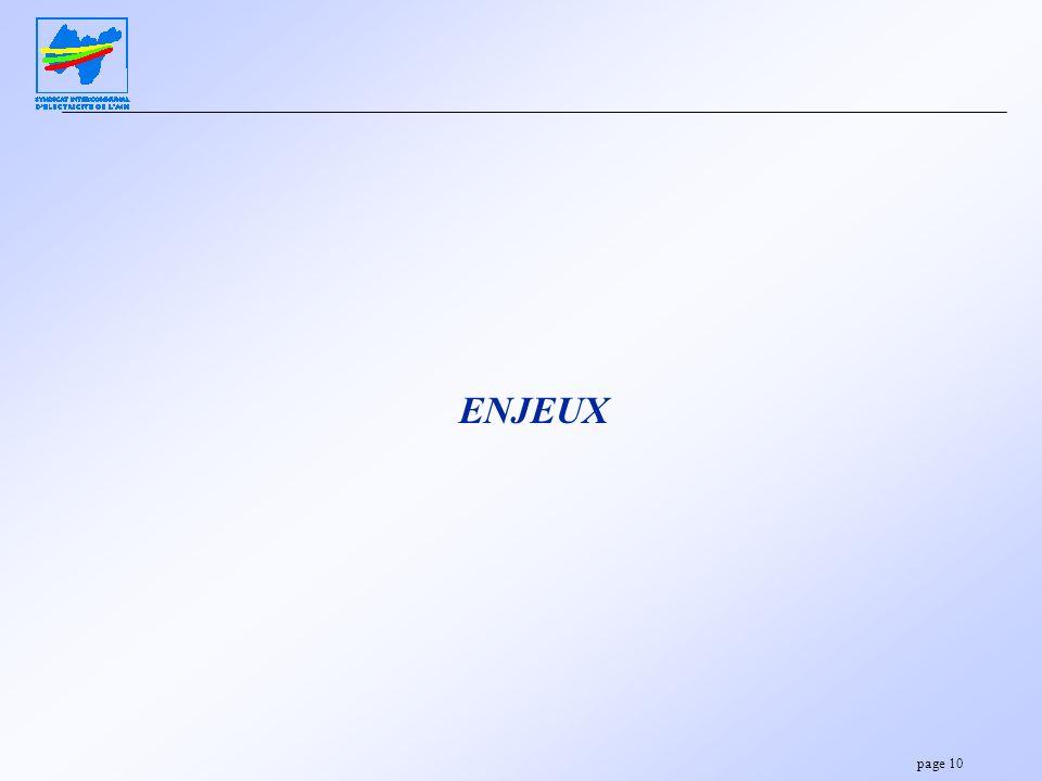 page 10 ENJEUX