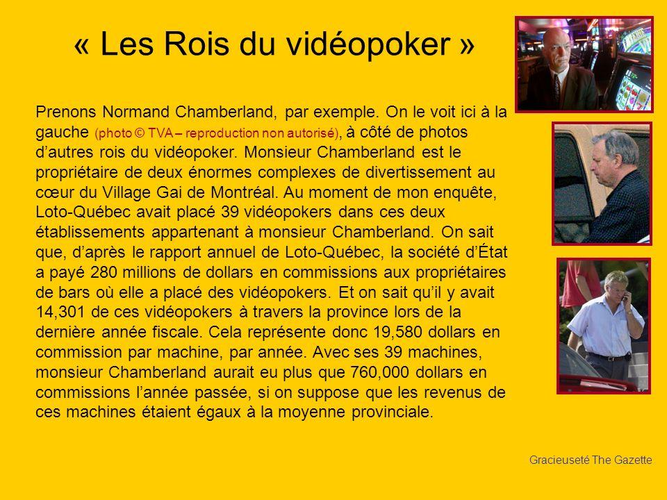Gracieuseté The Gazette Prenons Normand Chamberland, par exemple. On le voit ici à la gauche (photo © TVA – reproduction non autorisé), à côté de phot