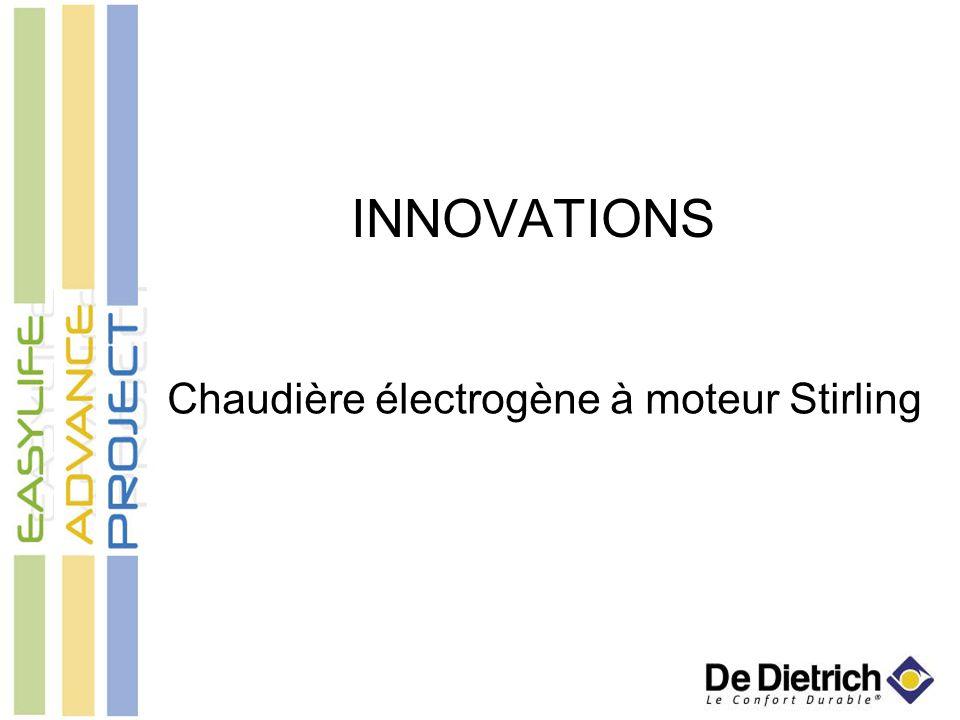 INNOVATIONS Chaudière électrogène à moteur Stirling