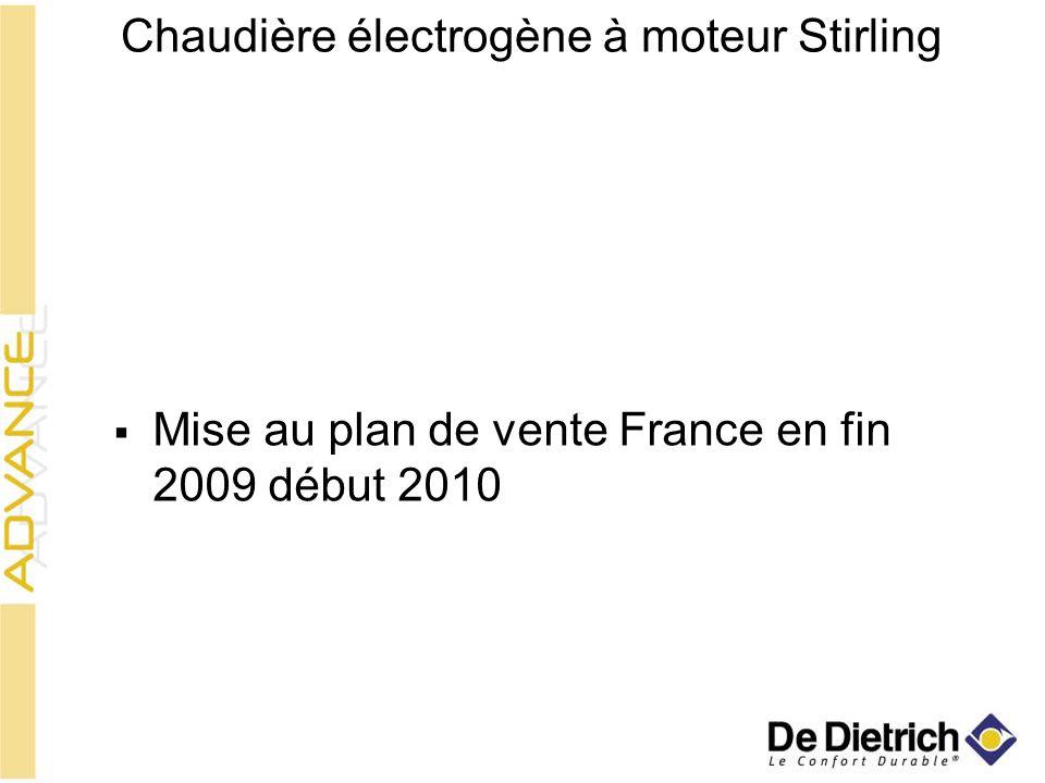 Chaudière électrogène à moteur Stirling Mise au plan de vente France en fin 2009 début 2010