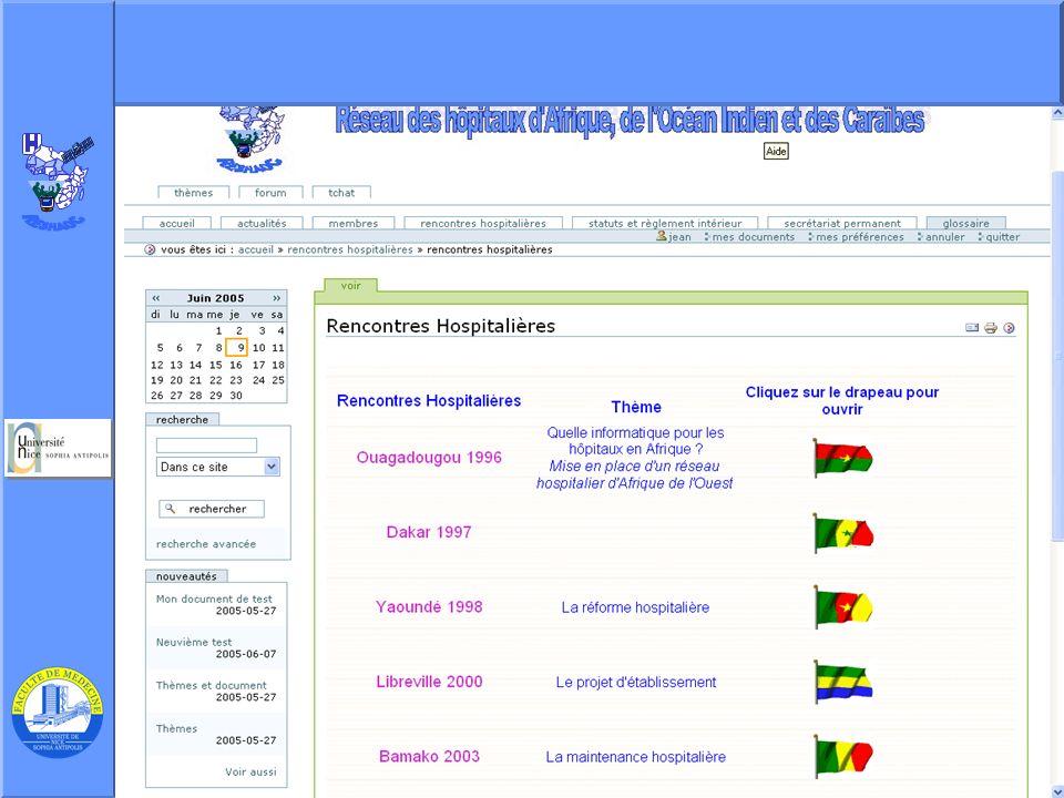J. Testa – P Staccini Université Nice-Sophia Antipolis – AG du RESHAOC 10 juin 200511