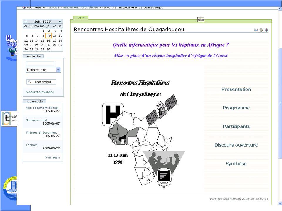 J. Testa – P Staccini Université Nice-Sophia Antipolis – AG du RESHAOC 10 juin 200512 Rubrique : description
