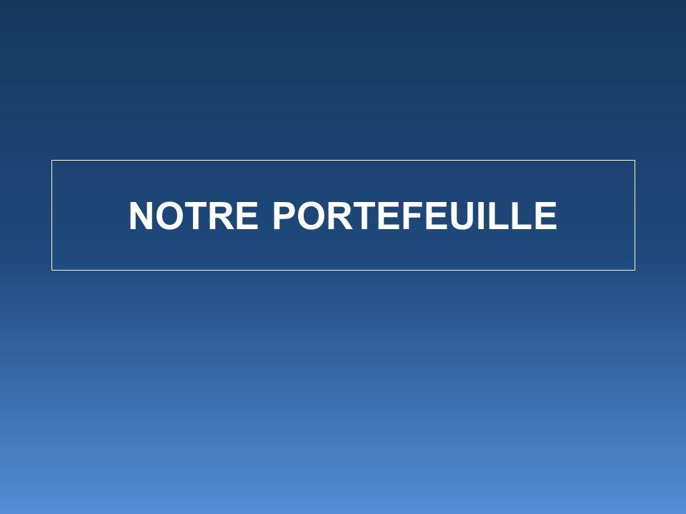 NOTRE PORTEFEUILLE