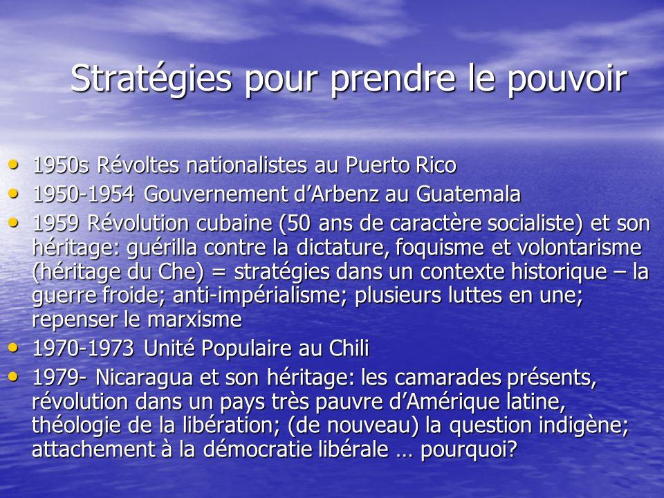 Stratégies pour prendre le pouvoir 1950s Révoltes nationalistes au Puerto Rico 1950s Révoltes nationalistes au Puerto Rico 1950-1954 Gouvernement dArb