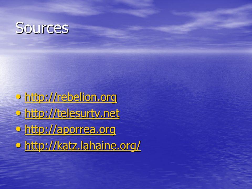 Sources http://rebelion.org http://rebelion.org http://rebelion.org http://telesurtv.net http://telesurtv.net http://telesurtv.net http://aporrea.org