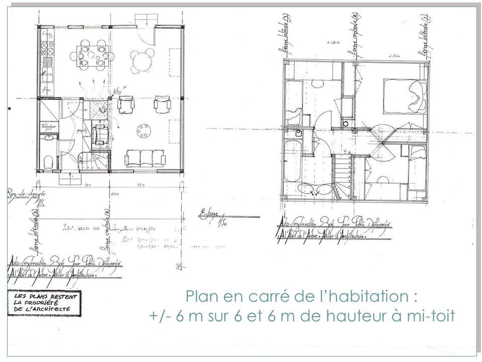 Etude de la construction bois pour une auto-construction aujourdhui Maison unifamiliale De 84,5 m2 pour 4 personnes, répondant aux normes du logement