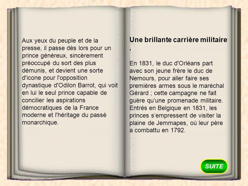 SUITE L année suivante, le duc dOrléans rentre en Belgique avec le commandement de la brigade davant-garde de larmée du Nord.