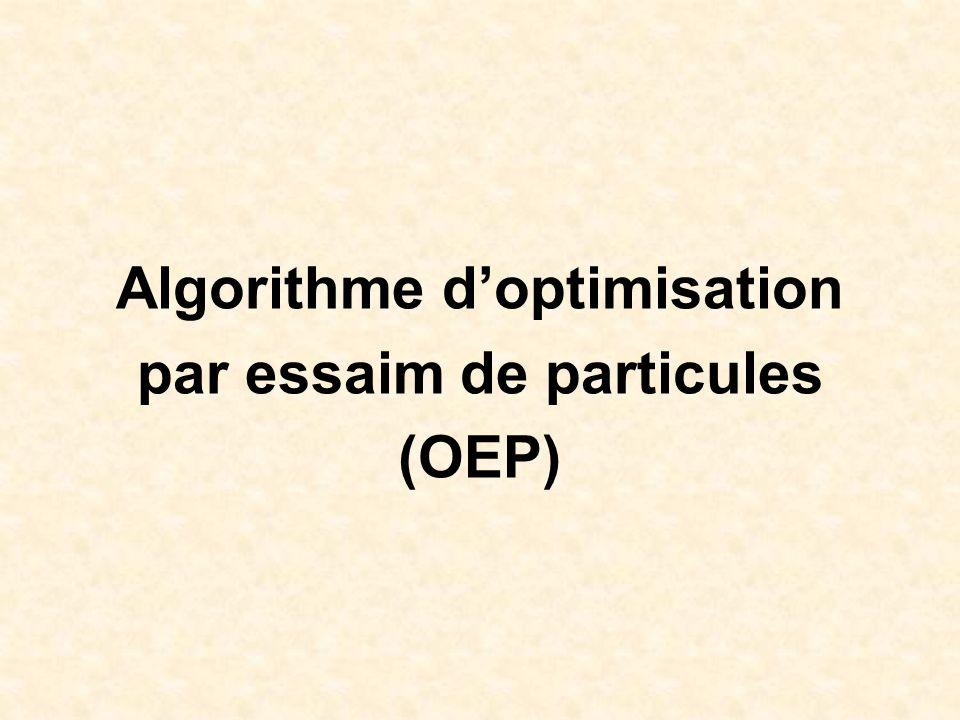 Algorithme doptimisation par essaim de particules (OEP)