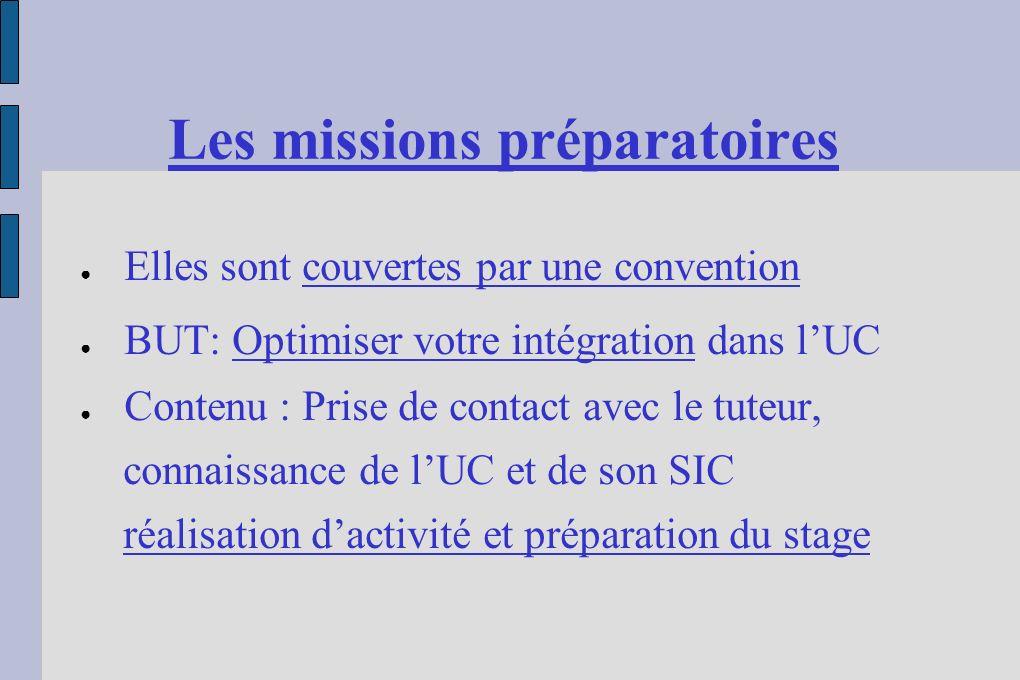 Les missions préparatoires Les MP environ 10 en BTS1 L'immersion en 2 temps : - 3 semaines en décembre 2006, - 7s en mai/juin2007 Le suivi BTS 2
