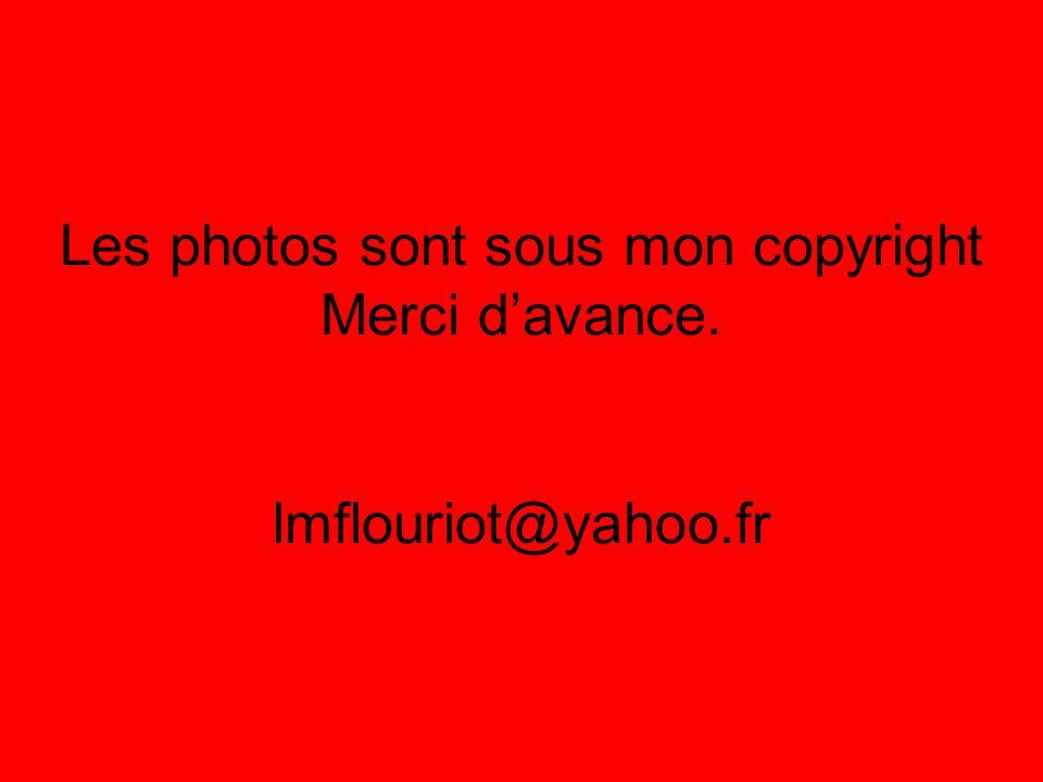 Les photos sont sous mon copyright Merci davance. lmflouriot@yahoo.fr